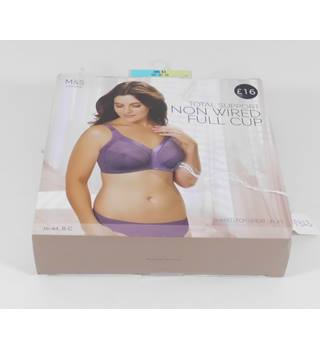 Marks & Spencer Amethyst Total Support Non Wired Full Cup Bra Size 36D