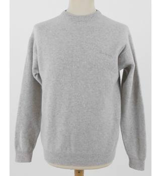 "Thomas Burberry 42""Chest Grey Lambswool Jumper"