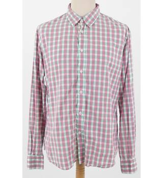"Farhi Size 44"" Chest Pink Green Checked Shirt"