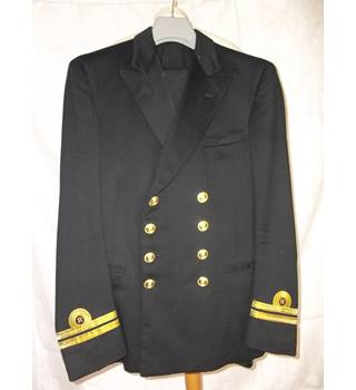 Royal Navy No 1 Reefers.  38 Chest £100 Gieves of London - Black - Double breasted suit