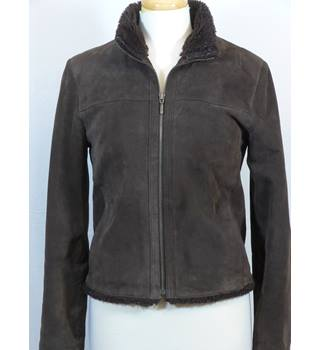 Fantastic suede bomber jacket by Barneys Originals - Size: 10 - Brown - Casual jacket / coat