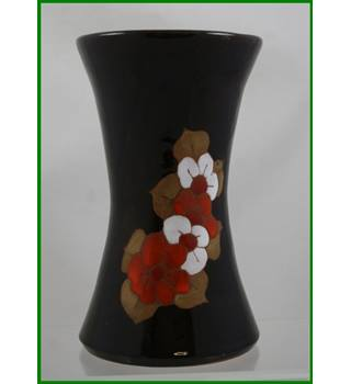 Artisan made - hand decorated - glazed vase