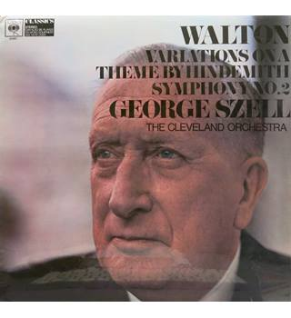 Walton Variations on a Theme by Hindemith. Symphony No.2. Szell/The Cleveland Orchestra. CBS