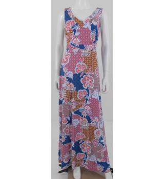 NWOT M&S Per Una Size 12 Blue, Red and Orange Maxi Dress