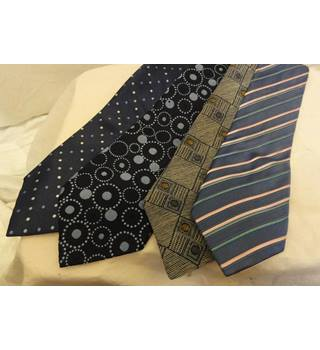 M&S and St Michael - One size - Set of 4 Multi-coloured Ties