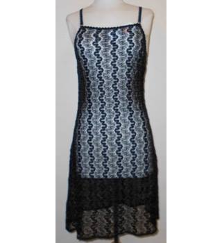M&S St Michael - Size 12 - Black lace patterned dress/nightwear