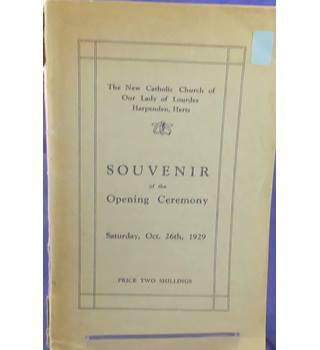 Souvenir of the Opening of the new Catholic Church at Harpenden in 1929