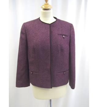 Dereta - Size: 14 - Pure New Wool - Purple - Jacket