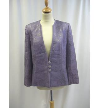 Jacques Vert - Size: 14 - Purple and Silver - Jacket