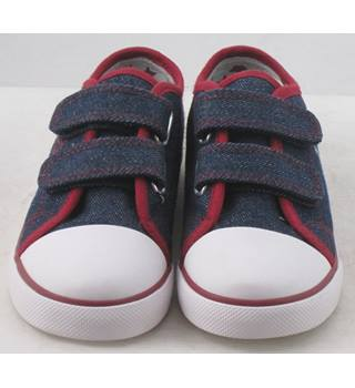 NWOT M&S Kids, size 11/29 denim blue plimsoll style shoes