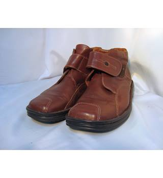 Josef Seibel Brown Leather Ankle Boots - size 4