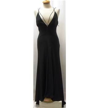 Amanda Wakeley size 10 black evening dress