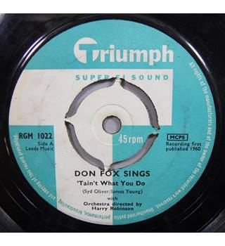 'Tain't What You Do / Out There Don Fox Sings - RGM 1022