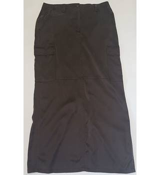 Kaliko size 12 brown silk skirt