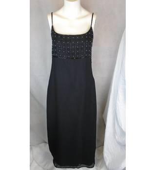 ELEGANT BEADED SELECT DRESS, SIZE 14 Select - Size: 14 - Black - Evening