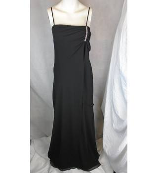 ELEGANT BLACK ROMAN EVENING DRESS, SIZE 14 Roman - Size: 14 - Black - Evening