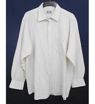 John Lewis cream shirt Size XL