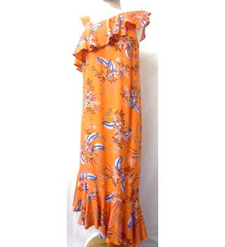 Limited Edition - Size: 10 - Orange floral - Full length dress