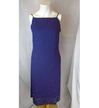 BRAND NEW PURPLE BHS SEQUIN DRESS, SIZE 10 BHS - Size: 10 - Purple - Cocktail dress