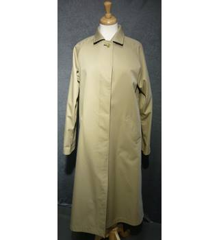 Burberry's Size 10 Beige/Black Reversible Trench Coat