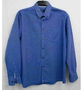 M&S Blue Harbour denim blue shirt Size L