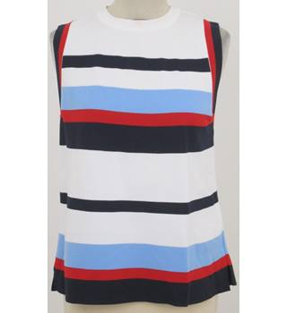 M&S: Size 12: Ivory mix stripe top