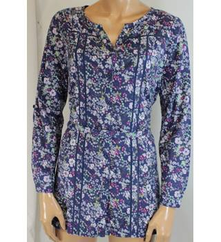 Laura Ashley - Size: 10 - Blue pink purple white green - Long-sleeved ladies' tunic