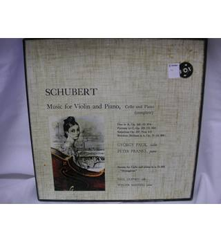 Schubert-Music for Violin and Piano- Vinyl LP