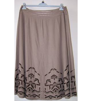 M&S Marks & Spencer - Size: 16 - Brown - A-line skirt