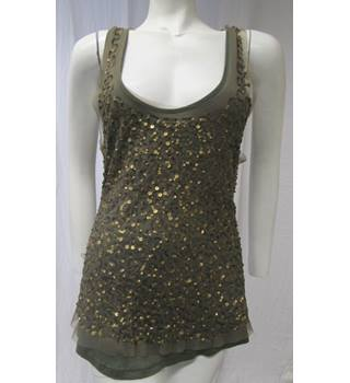 Dorothy Perkins Sequinned Top Size 18 Dorothy Perkins - Size: 18 - Green