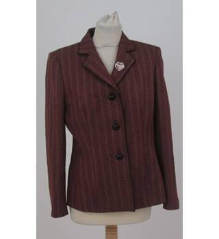 Le Suit size 8 pink, brown and black weave jacket