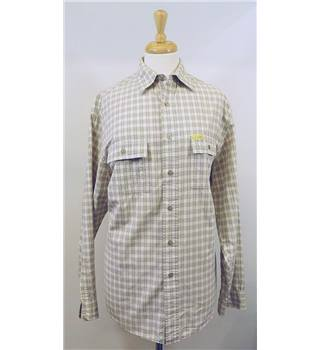 Calvin Klein Beige Checked Long-Sleeved Shirt - Size Small Calvin Klein Jeans - Size: S - Beige - Long sleeved