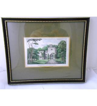 "Antique Engraving - Size Small -  ""Luscombe House"""