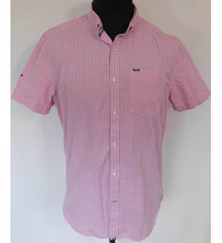 Superdry - Size XL - Pink/white check shirt