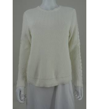 M&S  Cream Cotton Jumper Size Medium