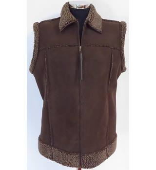 Marks And Spencer Size 14 Faux Sheepskin Gilet