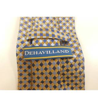 Dehavilland gold and blue mix tie