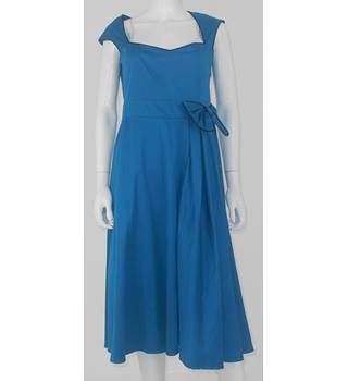 Lindy Bop Size 14 Kingfisher Blue Dress
