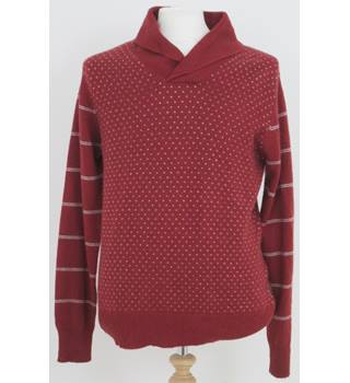BNWT Paul Smith Size: Large Russet Brown with white patterns jumper
