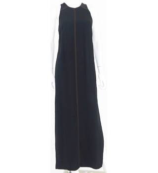 M&S Collection Size 8 Black Sleeveless Maxi Dress with Detailed Stitching