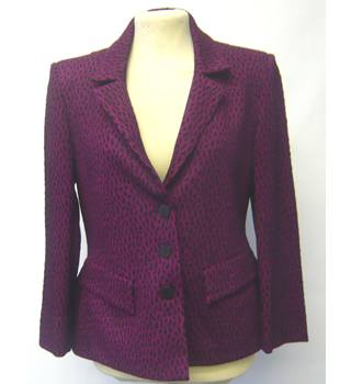Tailored jacket, purple base with black pattern over, size 8, Isabel De Pedro Isabel De Pedro - Size: 10 - Purple - Jacket