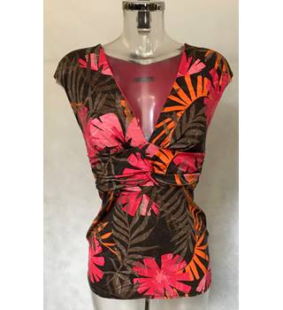 Jane Norman Cap sleeve top Size 14 Jungle Print Jane Norman - Size: 14 - Multi-coloured - Sleeveless top