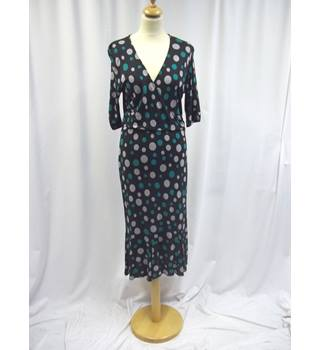 Phase Eight - Size: 14 - Navy Blue, Green and Grey - Long dress