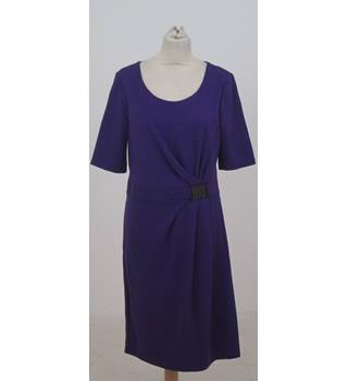 Precis Petite - Size: 14 - Purple short sleeved dress