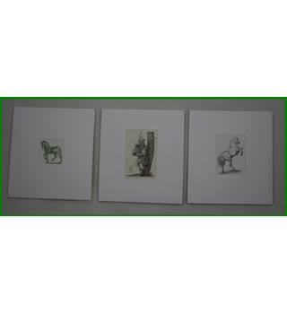 Miniature mounted reproduction artworks
