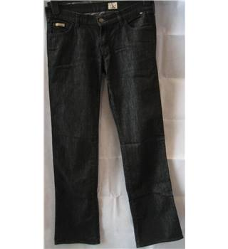 "Calvin Klein size 30"" waist black stretch boot cut jeans"