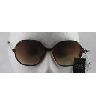 NWOT M&S Collection brown hexagonal frame sunglasses
