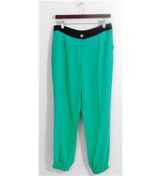 Ted Baker Emerald Green Pantaloon Style Trousers Size 3 (UK Size 12)