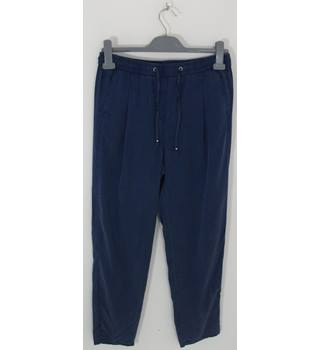 Marks & Spencer Collection Medium Blue Tapered Leg Trousers NO Size but Waistband Measures 32""