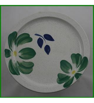 Hand decorated - floral plate